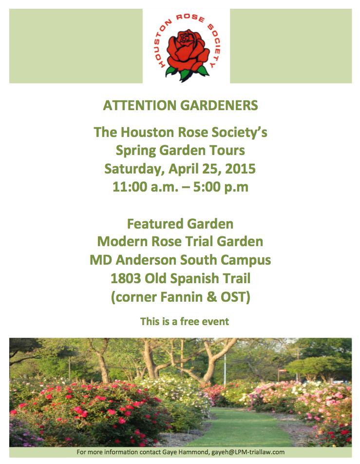 houston rose flyer