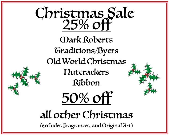 Christmas Sale 25-50% Off!